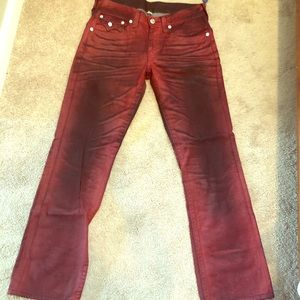 Men's true religion straight leg Red/black sz33